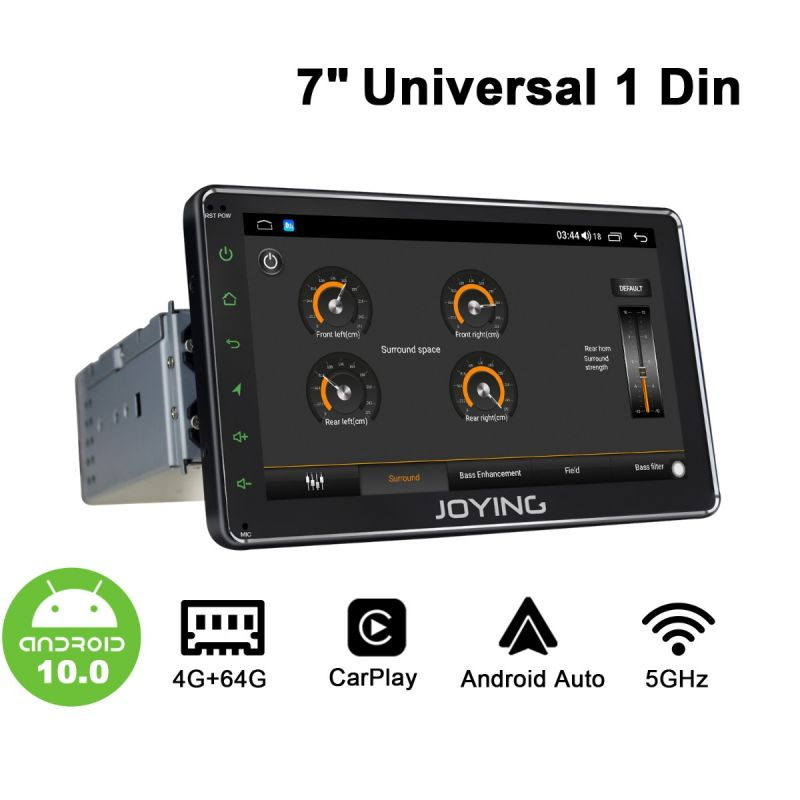 single din dvd player android 10.0 system