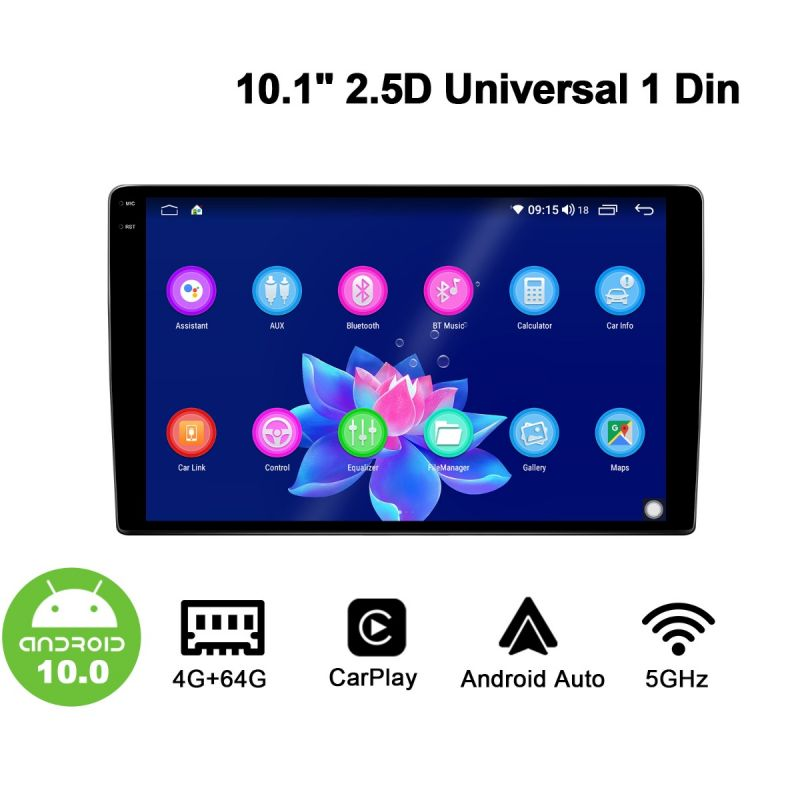 android 10 single din radio