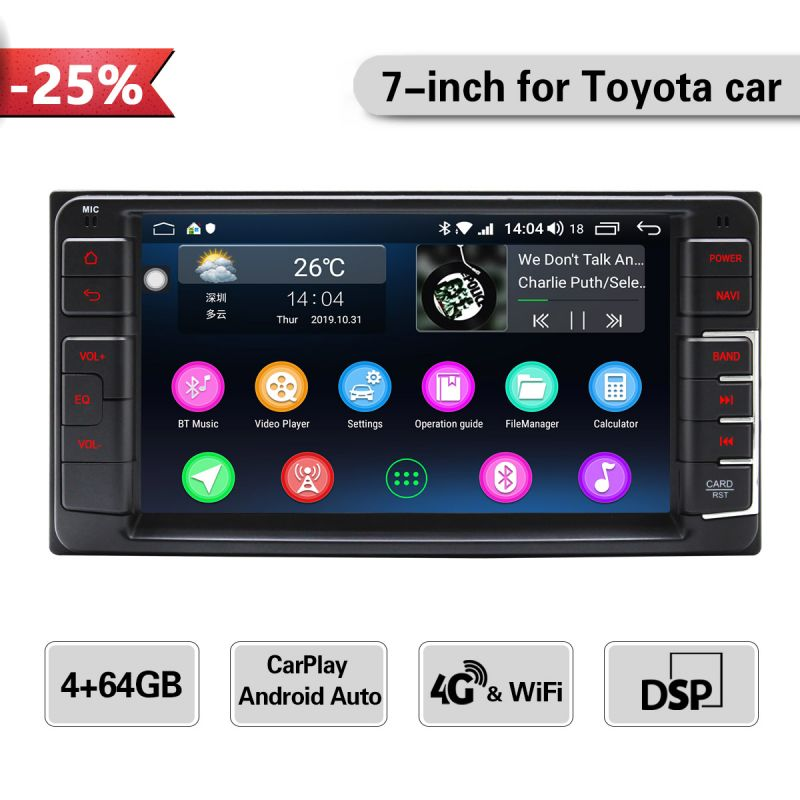 toyota factory car media player