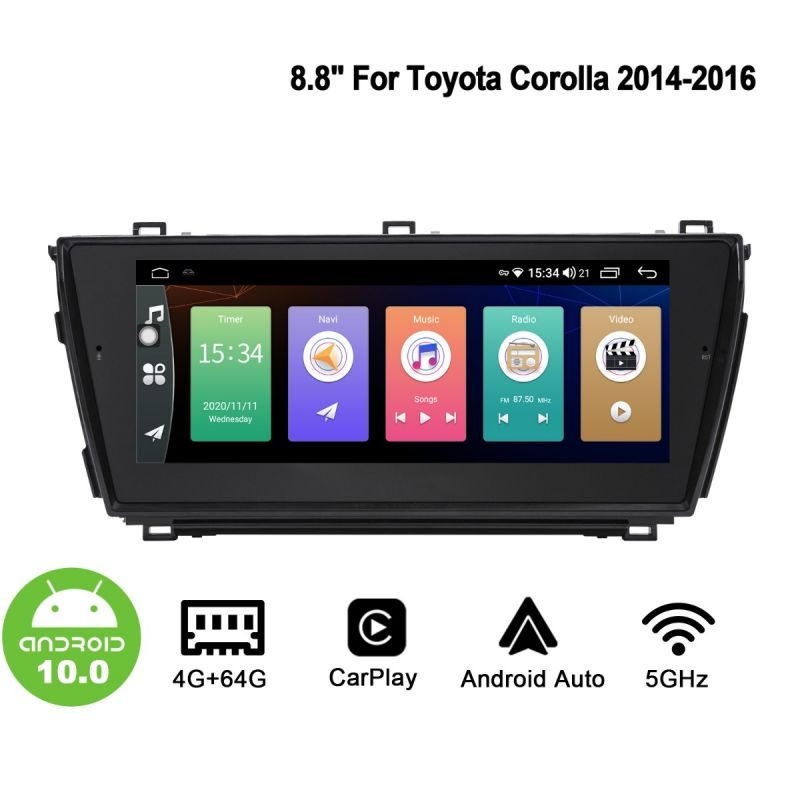 android 10 toyota corolla head unit